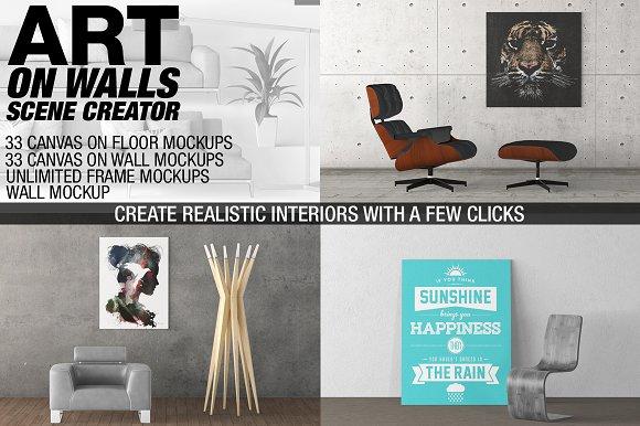Free Canvas Mockups - Frames Mockups v 10