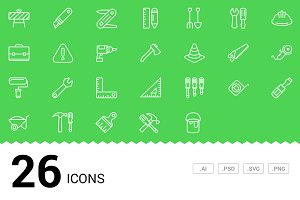 Construction - Vector Line Icons