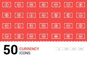 Currency - Vector Line Icons