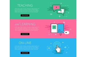 Teaching and Learning banner set