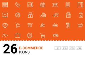 E-commerce - Vector Line Icons