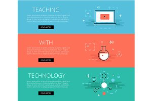Teaching With Technology banner set