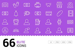 Elite - Vector Line Icons