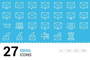 Emails - Vector Line Icons