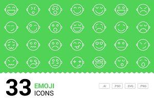 Emoji - Vector Line Icons