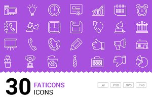 Faticons - Vector Line Icons