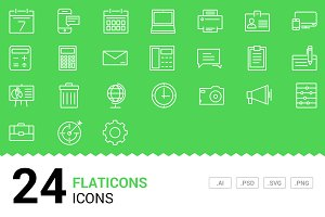 Flaticons - Vector Line Icons
