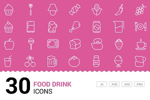 Food / Drink - Vector Line Icons