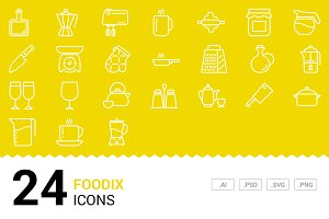 Foodix - Vector Line Icons