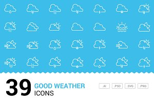Good Weather - Vector Line Icons