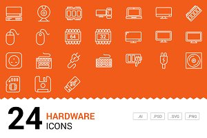 Hardware - Vector Line Icons