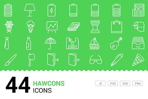 Hawcons - Vector Line Icons