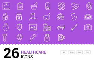 Healthcare - Vector Line Icons