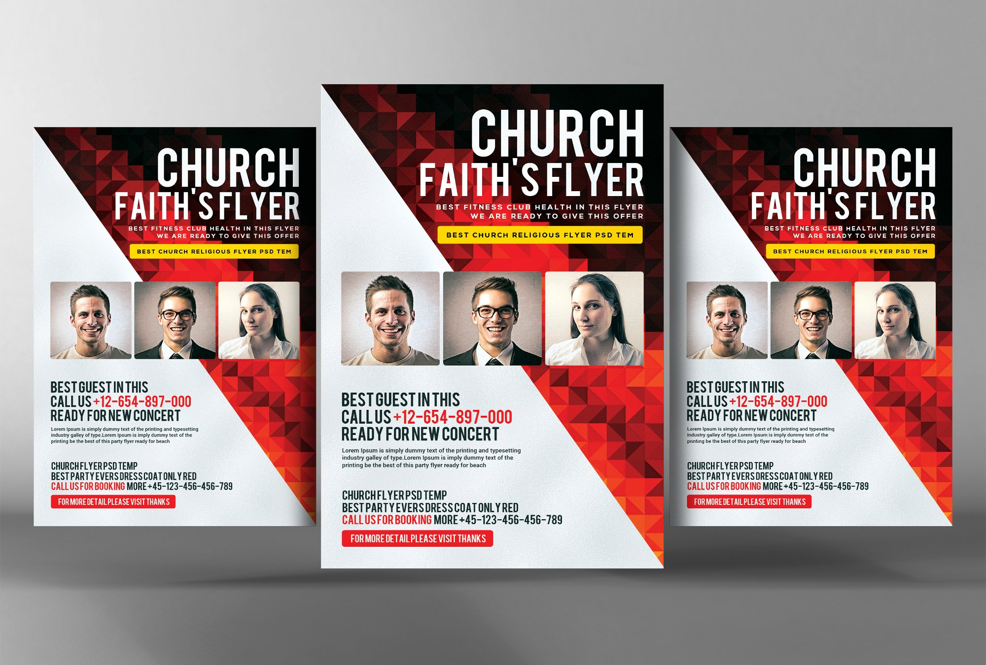 faith church flyer template flyer templates on creative market