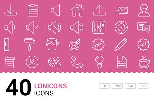 Lonicons - Vector Line Icons