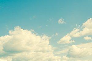 blue sky vintage