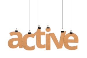 Active word hanging with strings