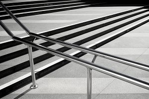 Lines of steps of the staircase
