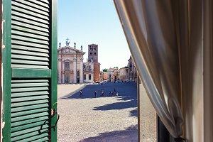 Square of the city of Mantova