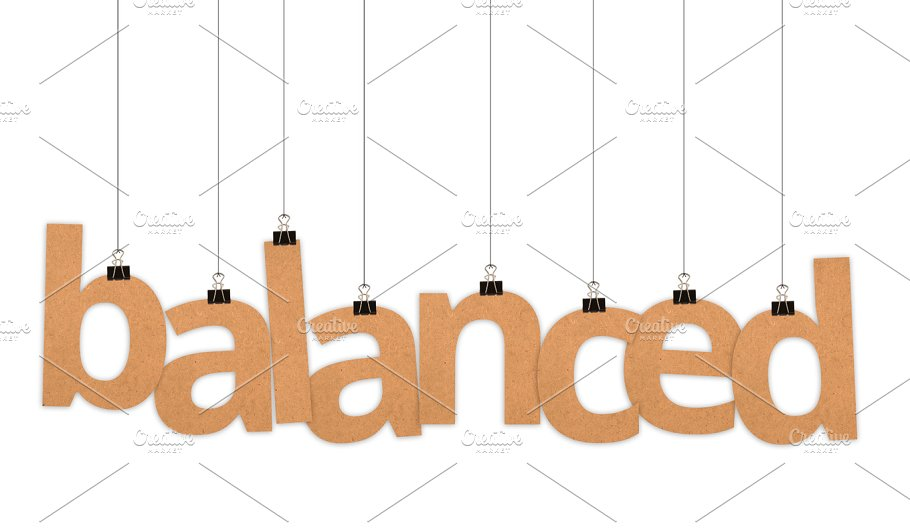 balanced word hanging with strings business images creative market