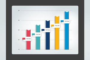 Columnn infographic chart. Vector