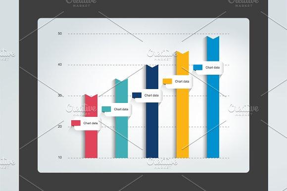 Columnn infographic chart. Vector - Illustrations