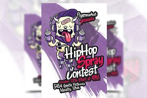Spray Contest - Flyer Template
