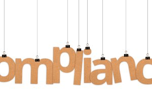 Compliance word hanging with strings