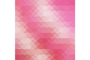 Pink triangular vector pattern