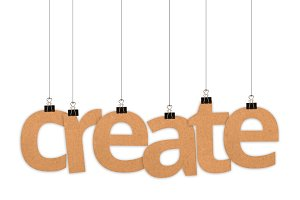 Create word hanging with strings