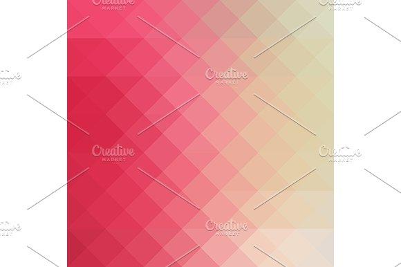 Pink cream triangular vector pattern