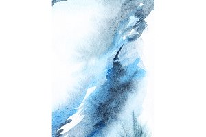 Watercolor navy blue white texture