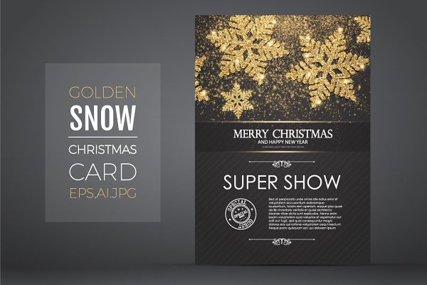 Christmas Card Template.