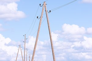 Poles with wires