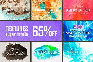 700+ Textures Super Bundle. 65% OFF.