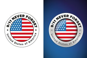 Never forget 9/11 badge