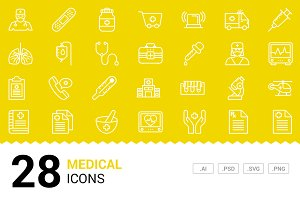 Medical - Vector Line Icons