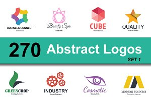 abstract logo design set 1