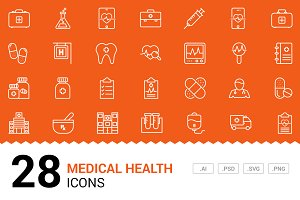 Medical / Health - Vector Line Icons