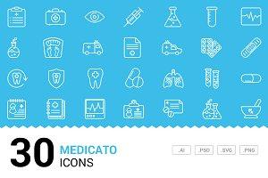 Medicato - Vector Line Icons