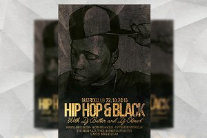 HipHop & Black - Flyer Template