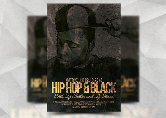 HipHop & Black - Flyer Template