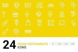 Instruments - Vector Line Icons