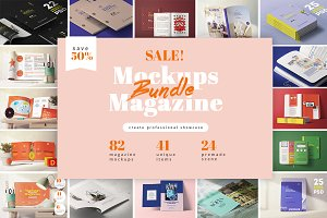 82 MAGAZINES MOCKUPS BUNDLE 41 items