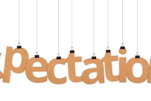 Expectations word hanging