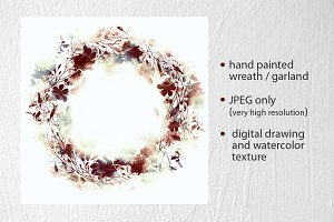 wreath from imprints meadow grass
