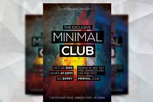 Minimal Club - Flyer Template