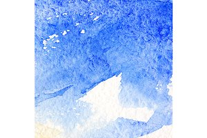 Watercolor blue cloud sky texture