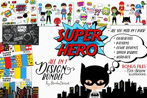 Super Hero Bundle +26 FREE Elements