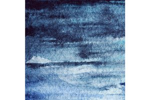 Watercolor navy blue water texture